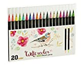 #5: Best Watercolor Brush Pen Set Pack of 20 pcs - Perfect for Art Drawing, Pro Flexible Markers for Painting Engaging Soft Water Brush