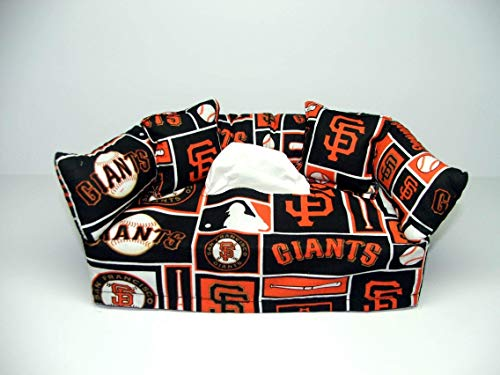 San Francisco Giants MLB Licensed fabric tissue box cover. Includes Tissue (Mlb Toilet Paper)