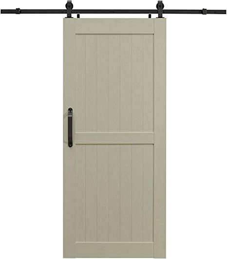 LTL Home Products MLB3684HKD Millbrooke Ready to Assemble DIY PVC Barn Door Kit 36 x 84 Inches White