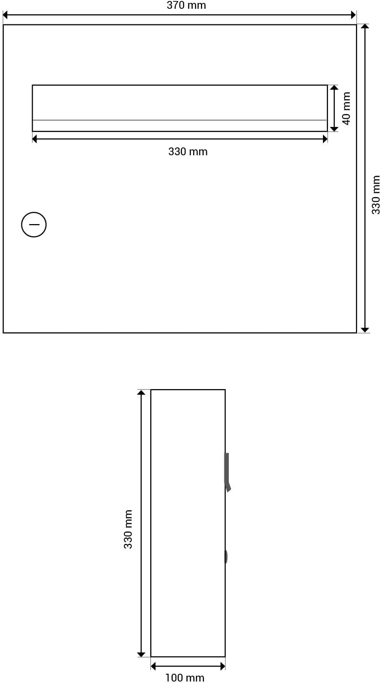 LETTERBOX24.de A-01 - Buzón de pared (acero inoxidable, sin placa para nombre)