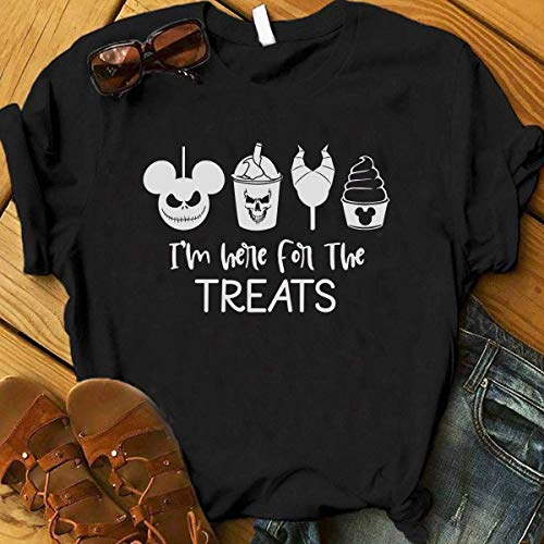 I'm Here For The Treats, Disney Halloween Snacks Shirt, Women Disney Halloween Shirt, Mickeys Not So Scary Halloween, Disney Trick or ()