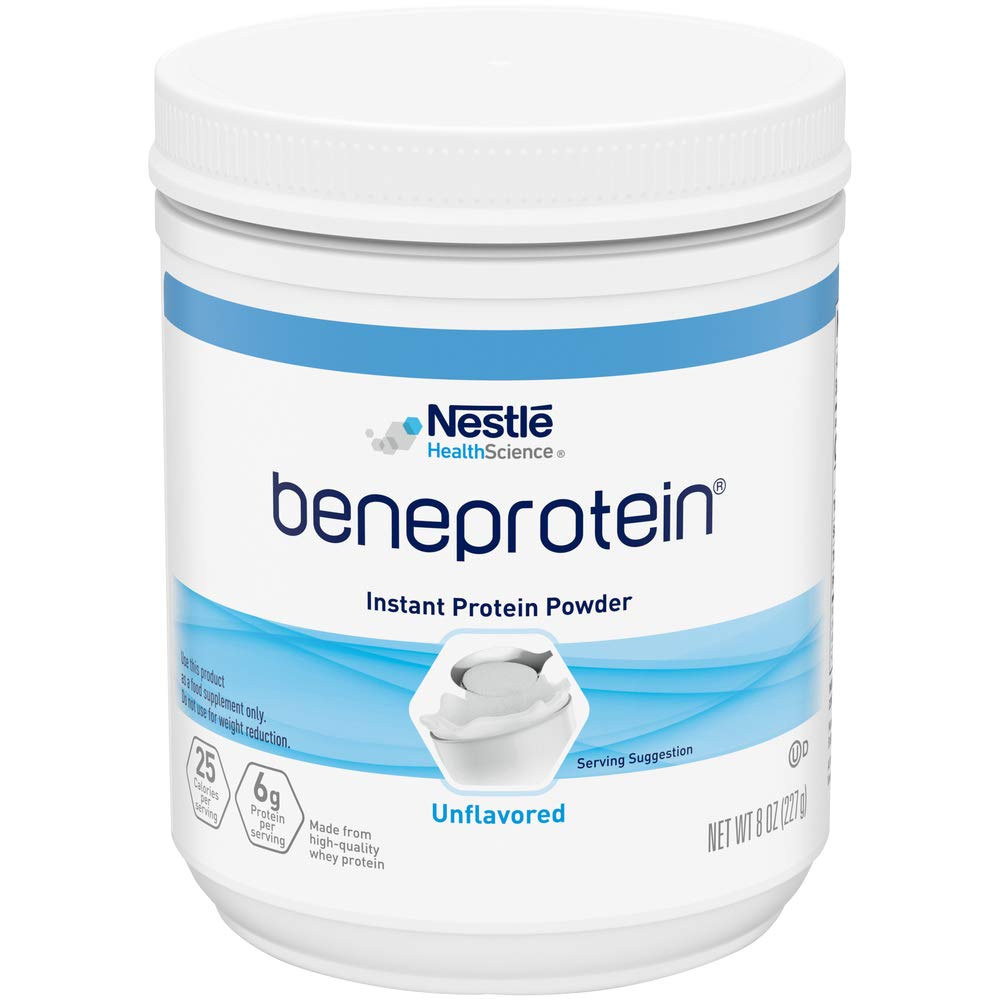 NESTLE NUTRITIONAL RESOURCE BENEPROTEIN Instant Protein Powder, Unflavored - 8 Ounce, QTY:1