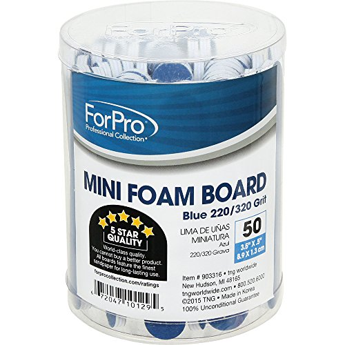 For Pro Mini Blue Foam Boards 220/320 Grit, 3.5 Inch x .5 In
