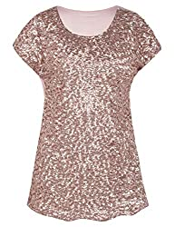 Women's Sequin Loose Bat Sleeve Party Tops