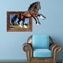 SNEED-3D ( Horse ) wall stickers bedroom living room TV sofa background wallpaper HD three-dimensional self-adhesive stickers