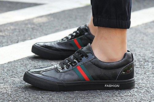 chaussures camouflage automne de Hommes de HYLM et course chaussures nouveau chaussures skate sport hiver bleues de black chaussures X7OOx5