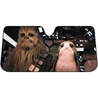Plasticolor 003848R01 Star Wars Chewbacca Chewie and PORG Accordion Sunshade for Your Auto Car Truck SUV Vehicle…
