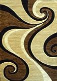 Modern Beige Rug Design #144 Americana (8 Feet X 10 Feet 6 Inch)