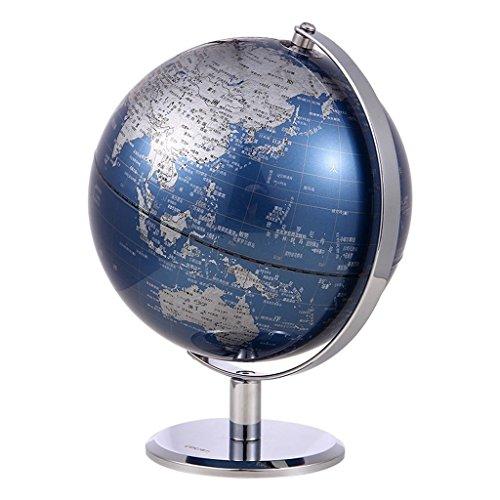 (Yzjyzj Globes HD Student Decoration Metal World Geography Teaching Child 13cm Study Stainless Steel Metallic)