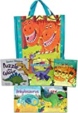 Dinosaur Adventures Collection 5 Books Set in a Bag (Ankylosaurus The clumsy club, Diplodocus The dippy idea, T rex The big scare, Velociraptor The speedy tale, Dinosaur Adventure Puzzle and Colour)