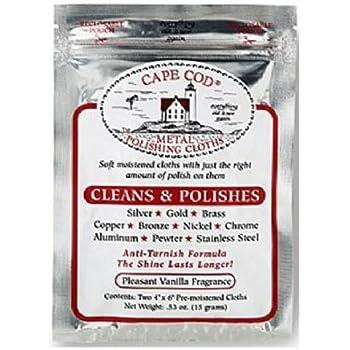 Cape Cod Metal Polishing Cloths Foil Pouch 0.53oz