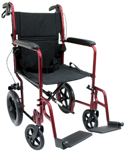 (Karman 23 lbs Transport Wheelchair with Companion Brakes)