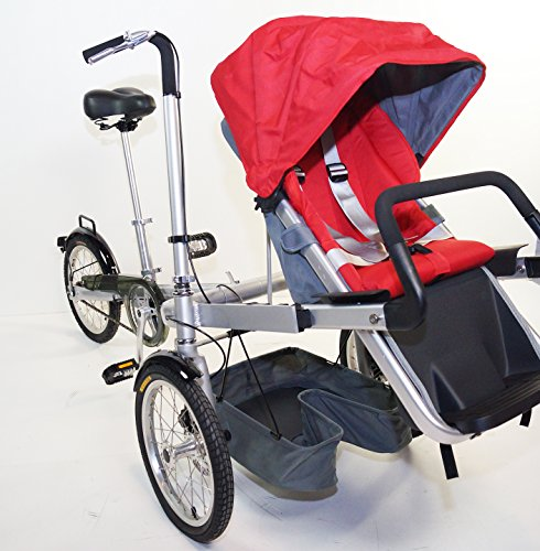 3 Wheels Folding Bicycle Pushchair Mother Baby Stroller Bike Carrier. rideONEcar