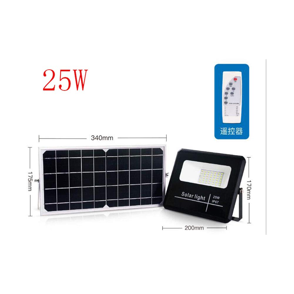 42 LED Solar Flood Lights, 25W IP67 wasserdicht Outdoor Remote Control Security Wall Light Fixture for Sign, Garden, Farm, Boat, Camping, Garage