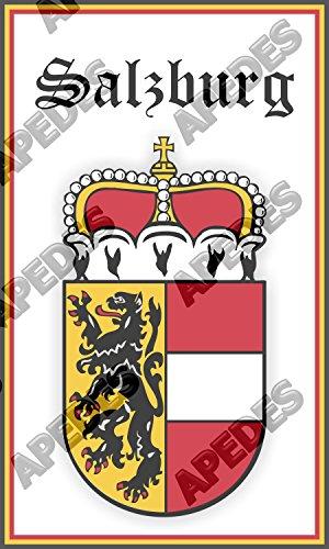 Salzburg Austria Coat Of Arms Computer Car Decal Sticker 3x5 inches