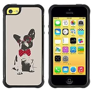Jordan Colourful Shop@ Boston Terrier Pug Polka Dot Red Grey Rugged hybrid Protection Impact Case Cover For iphone 5C CASE Cover ,iphone 5C case,iphone5C cover ,Cases for iphone 5C