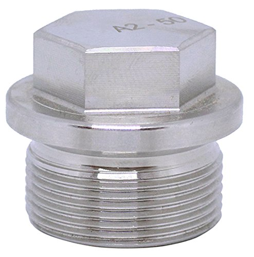 BelMetric (1pc) M30X1.5 Flanged A2-50 Stainless Steel Hex Head Corrosion Resistant Plugs DIN 910 for Machinery and Fittings, Sealing Washer Included DP30X1.5HSS ()