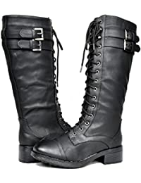 Women's Winter Faux Fur Lining Combat Boot