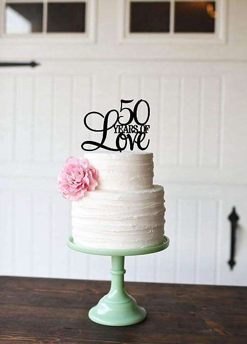 Decoración para tarta de 50 años de amor para 50 aniversario ...