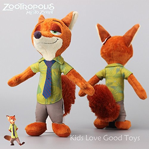 "2016 Disney Store ZOOTOPIA Nick Wilde Plush Fox Toy Soft Stuffed Doll 11"" NEW"