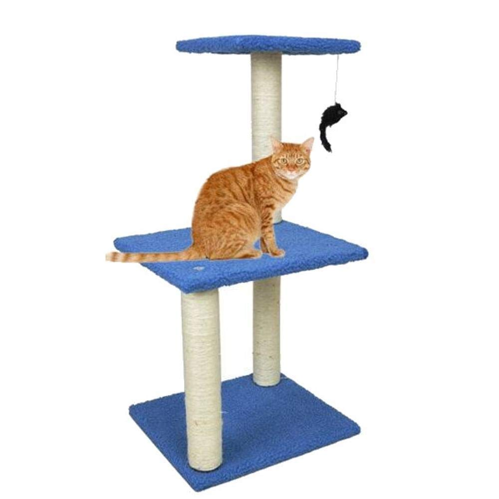 TOUYOUIOPNG Deluxe Multi Level Cat Tree Cat climbing frame Cat grabbing column cat tree for game sleeping 40cm 35cm  84cm