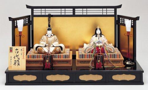 【雛人形】真多呂作 木目込み雛人形 伝統的工芸品 古代雛   B006HIME6W
