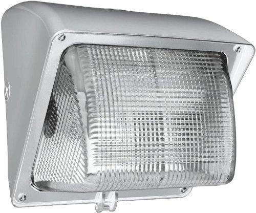 (RAB WP1GH50WPC Wallpack 50WMetal Halide 120V Npf Glass Lens Lamp + 120V with Photocell, White Color by Rab Lighting)