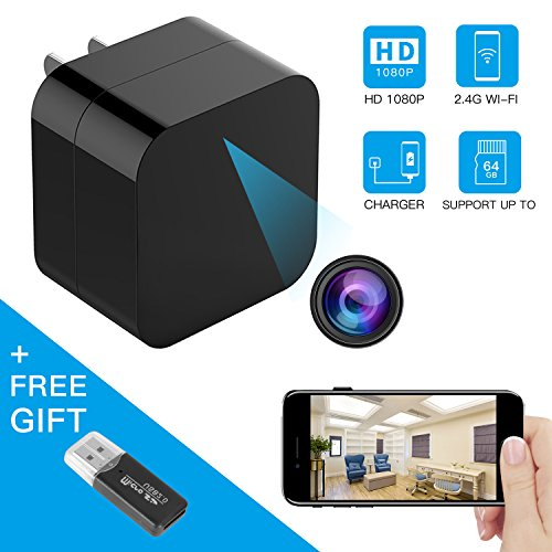 Hidden Spy Camera, Wireless USB Charger Mini Cam HD 1080P Home Security Camera with Motion Detection, Remote View Nanny Cam