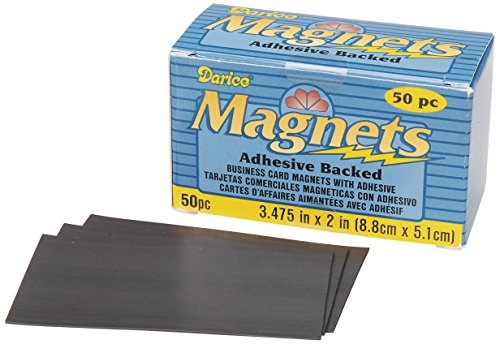Darice 1017-78 Business Card Magnet, 3.475-Inch, 50-Pack -