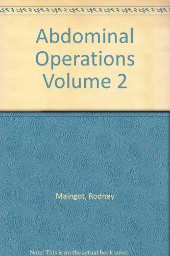 Abdominal Operations Volume 2