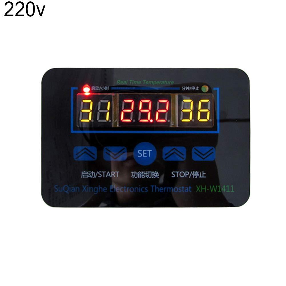 NAttnJf Regolatore di Temperatura termostato 12 / 220V 10A Interruttore elettronico di Controllo del termostato Digitale per la Regolazione della Temperatura 220V
