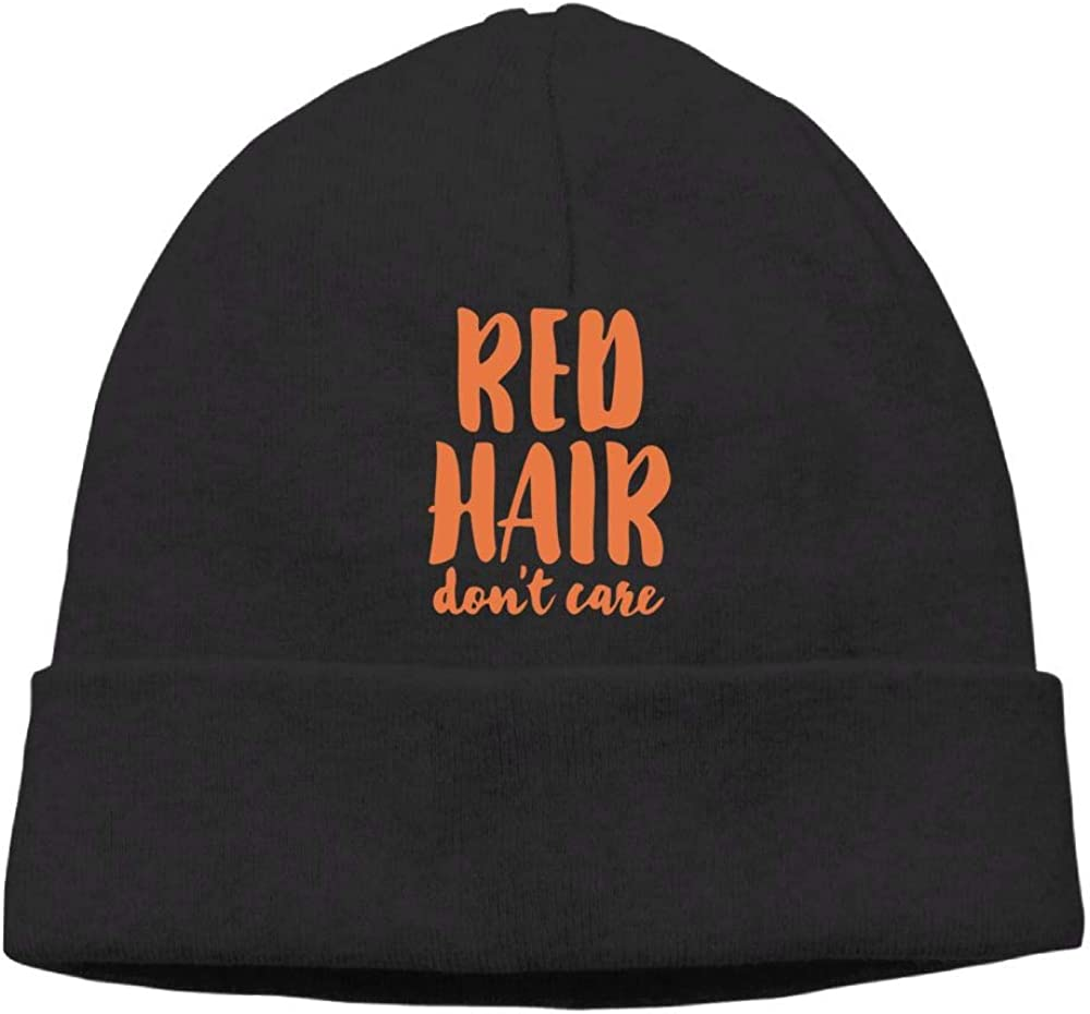 Oopp Jfhg Beanie Knit Hat Skull Caps red Hair Dont Care Men
