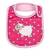 Lovely Sheep Red Cool Cotton/PVC Adjustable Waterproof Baby Bib Pocket Bib 612''