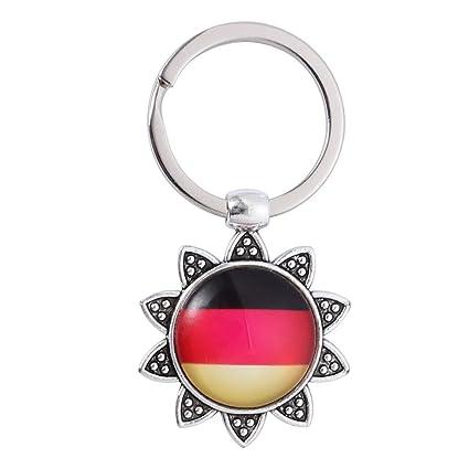 BESTOYARD Alemania llaveros Bandera Nacional patrón Llavero ...