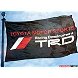 TRD Flag Banner (90 x 150 cm) Toyota Racing Development Motor Sports Car Garage Black