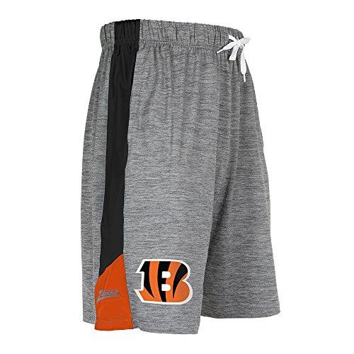 ZUBAZ Adult Men's NFL Zebra Print Accent Team Logo Active Shorts, Space Dye, Small