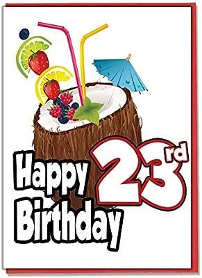Hawaiian Hula - Tarjeta de felicitación de 23 cumpleaños ...