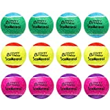 SCENEREAL Squeaky Tennis Balls Toys for Dogs Pets Playing and Training 2.5'' 12 Pcs/Set