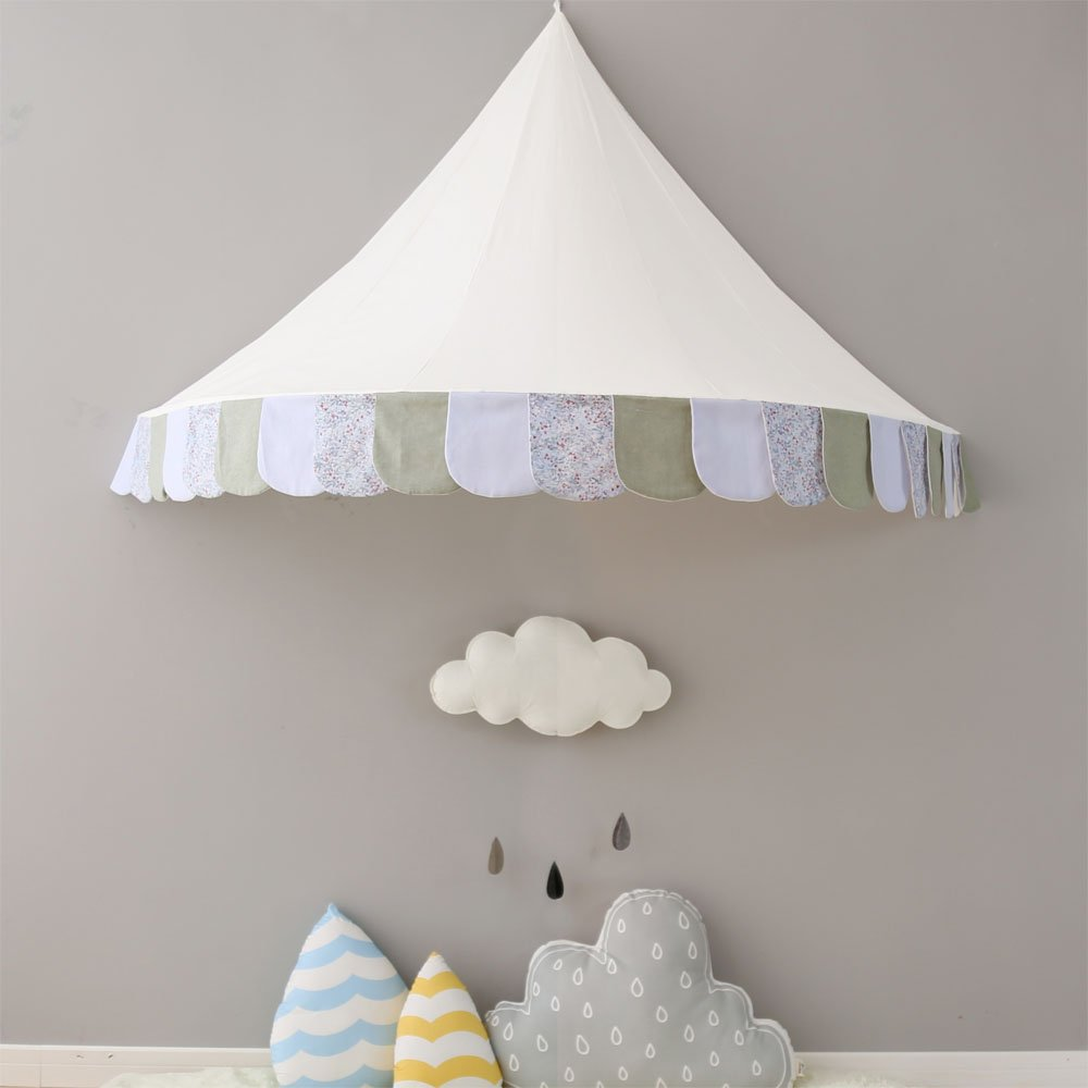 T- Children Tents White Cotton Cloth Interior Game Tents Boys Girls Indoor Fun Reading Baby Game House,Without Accessories ( Size : L )