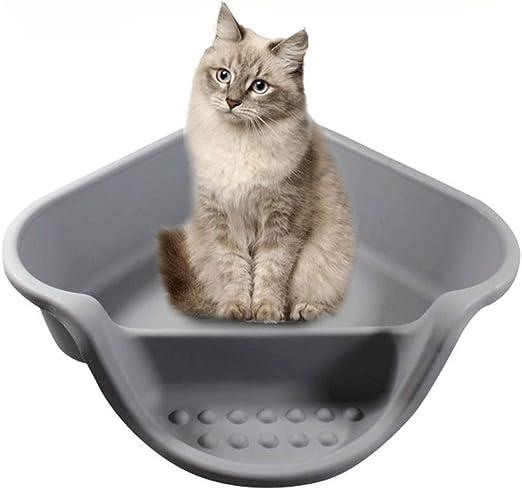 Inodoro para gatos, caja de arena, caja de arena semi-cerrada ...