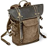 Jaycel-Ginny Africa SLR Camera Backpack- Fashion Multi-Function Photography Genuine Leather Canvas,Waterproof Travel Backpack for National Geographic,NGA5290