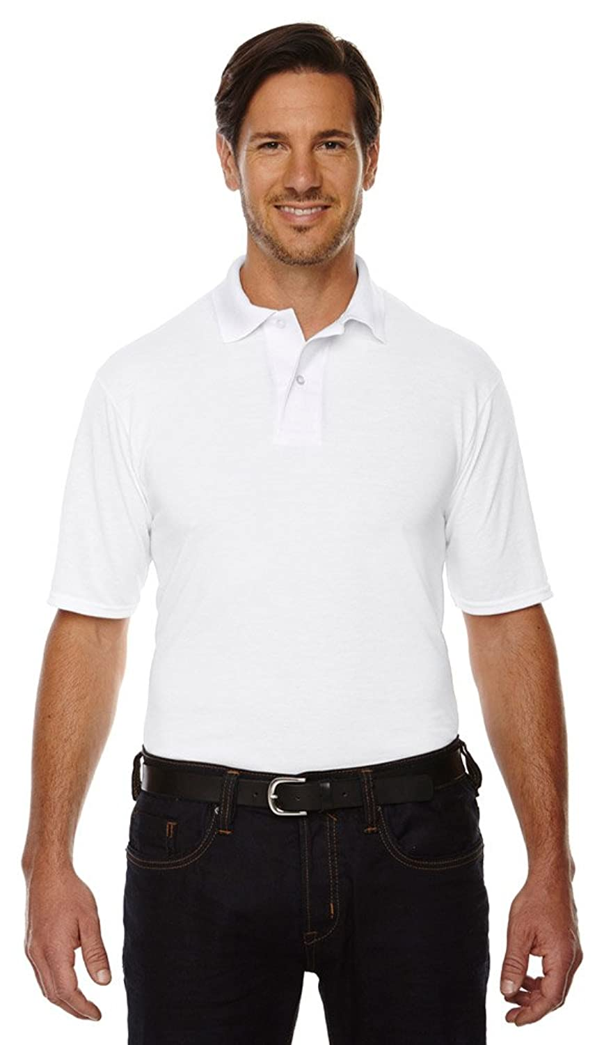 Jerzees 53 oz, 100% Polyester SPORT with Moisture-Wicking Polo -421M- WHITE