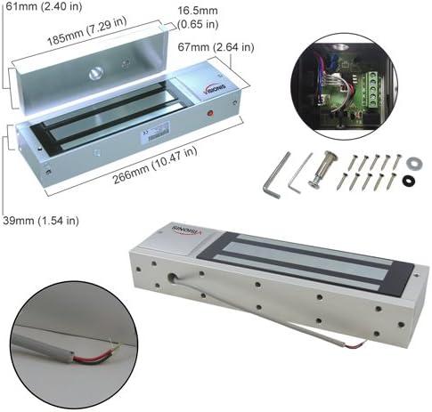 Visionis FPC-5657 One Door Access Control Inswinging Door 1200lbs Maglock with VIS-3005 Slim Outdoor IP68 Weatherproof Keypad//Reader Standalone EM no Software 2000 Users Wireless Receiver Kit