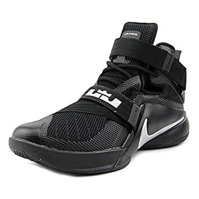 Nike Lebron Soldier IX Men US 9 Black Basketball Shoe