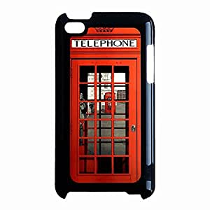 Ipod Touch 4th Generation Case Personalized Custom Red British Phone Booth Phone Case Protective Shell Cover for Ipod Touch 4th Generation British Phone Booth Unique Design