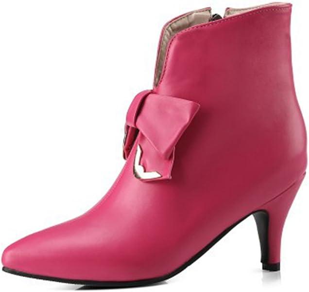 fbf0174990 Aisun Women's Cute Inside Zip Up Dressy Pointed Toe Ankle Boots Stiletto Kitten  Heels Booties with