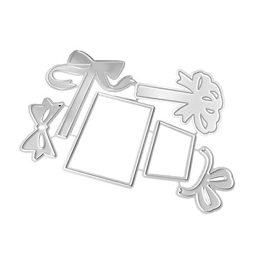 Caja de regalo de metal troqueles de corte para hacer ...