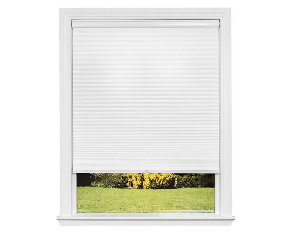 34 1//8 in x 72 in Artisan Select No Tools Custom Cordless Cellular Light Filtering Shades Snow