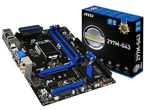 MSI Micro ATX DDR3 2400 LGA 1150 Motherboards Z97M-G43