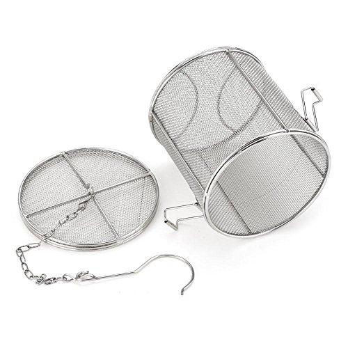 (Stainless Steel Spice Seasoning Strainer Tea Ball Strainer Soup Seasonings Seperation Basket Spice Filter Kitchen Tools (1213cm))